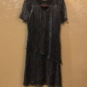 Connected Apparel black/silver dress size 10